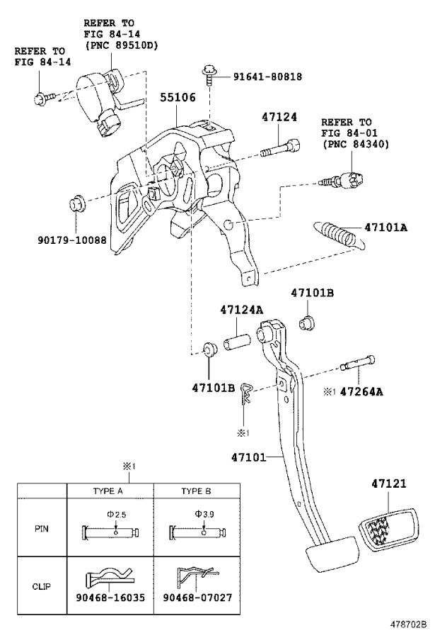2006 Toyota Prius Support sub-assembly, brake pedal
