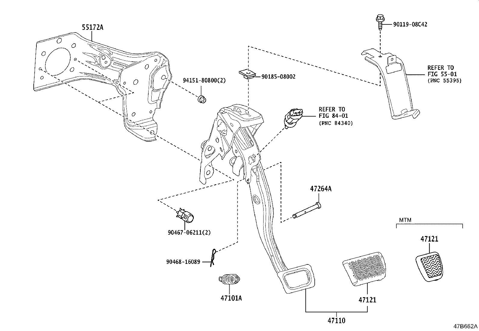 Toyota Corolla Pad Brake Pedal Suspension Brakes