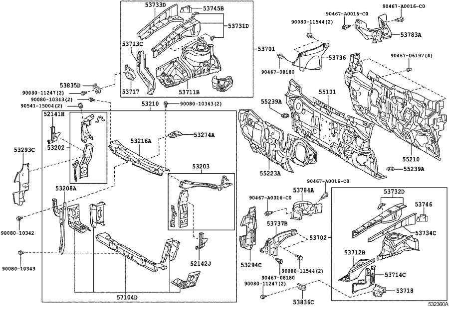 2009 Toyota Camry Hood Latch Support. Support, Hood Lock