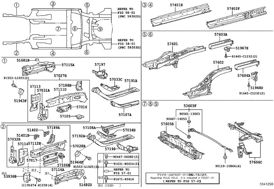 2015 Toyota Prius Bracket sub-assembly, front suspension