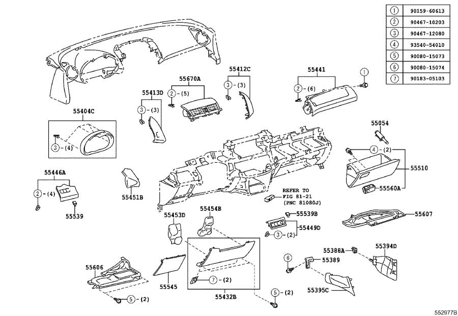 2013 Toyota RAV4 Cover sub-assembly, instrument panel