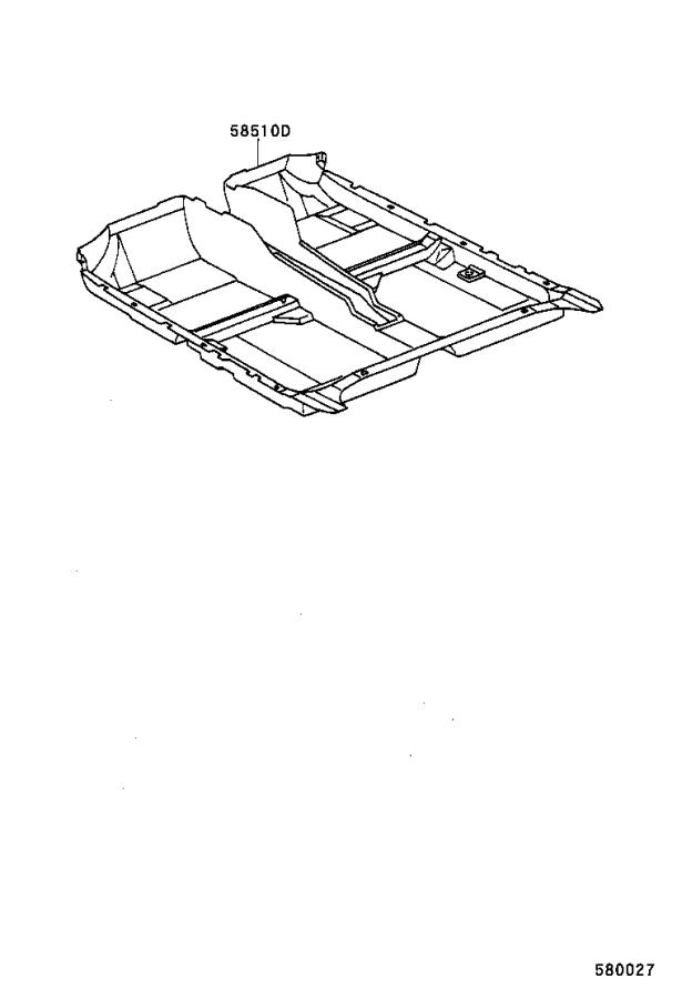 2001 Toyota Camry Carpet assembly, floor, front. Sage