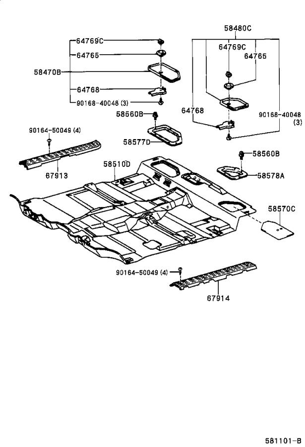 2001 Toyota Tacoma Cover assembly, seat floor service hole