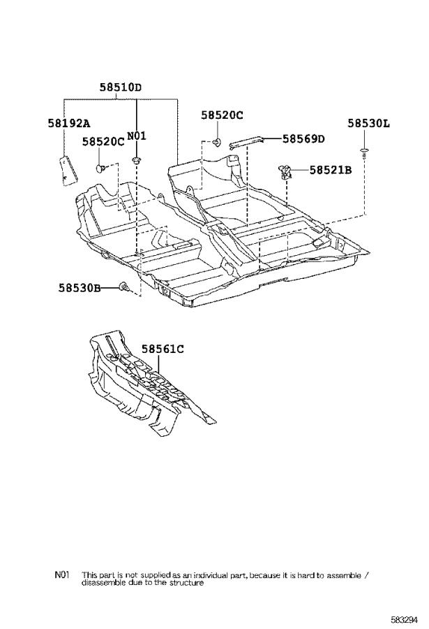 2012 Toyota Corolla Carpet assembly, floor, front. Grege