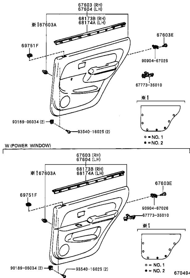 2001 Toyota 4Runner Side Body Trim Protector (Right, Rear