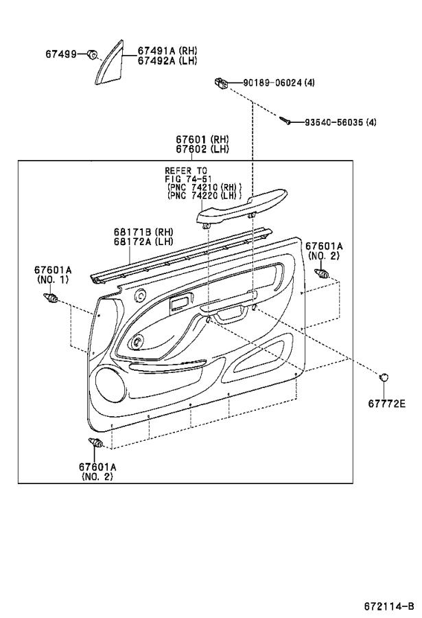 Toyota Tacoma Window Channel (Right, Front). Door