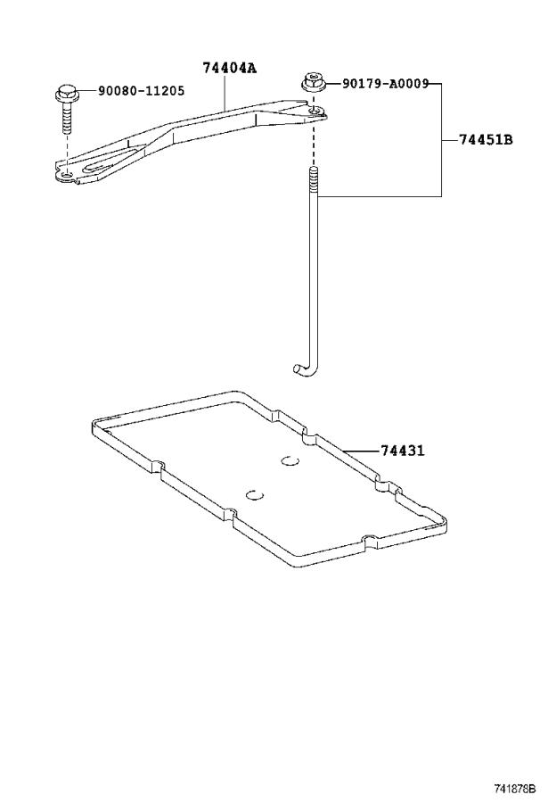 Toyota Camry Battery Hold Down Frame. Clamp, Battery