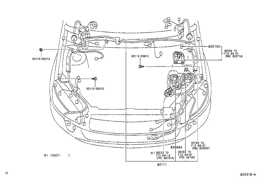 2005 Toyota RAV4 Wire, front door, left. Wiring