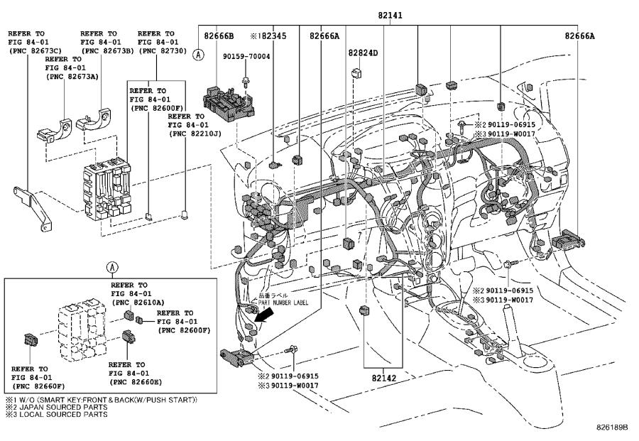 Toyota Yaris Connector, wiring harness. Engine, room, seat