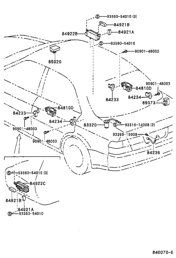 2001 Toyota Camry Bulb. Antenna switch; for rear window