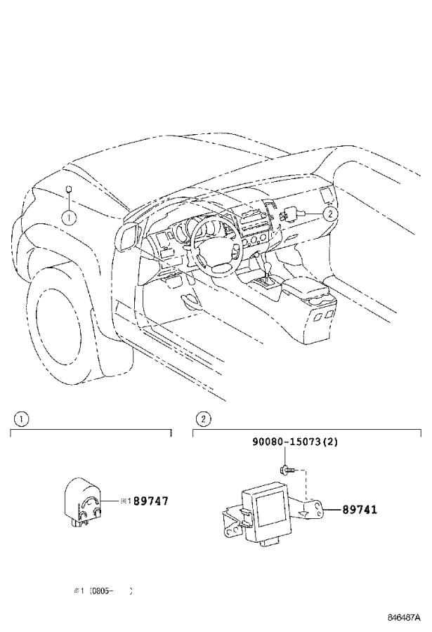 2019 Toyota Tacoma Receiver assembly, electrical key
