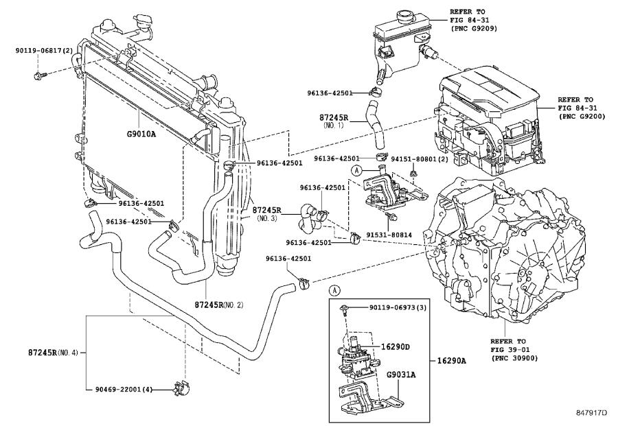 Toyota Camry Pump assembly, water with motor & bracket