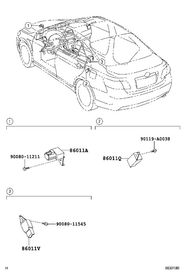 2008 Toyota Camry Bracket, radio, no. 2. Electrical