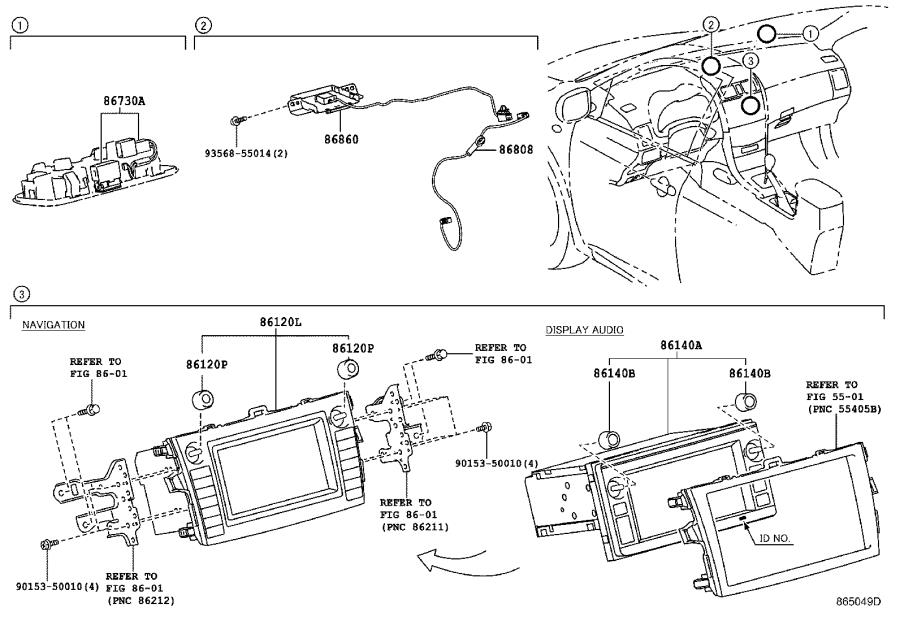 2013 Toyota Corolla Receiver assembly, radio & display