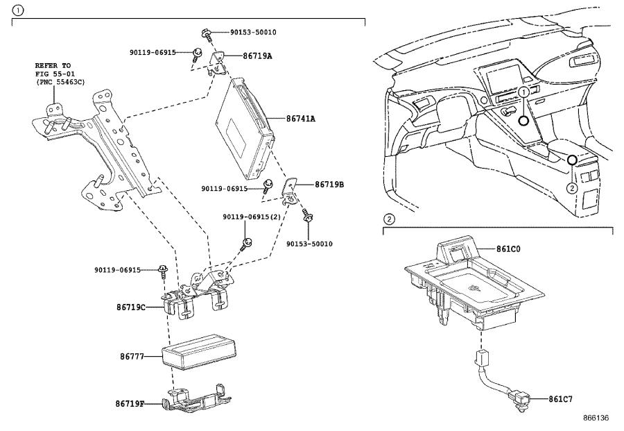 2016 Toyota Mirai Cradle assembly, mobile wireless charger