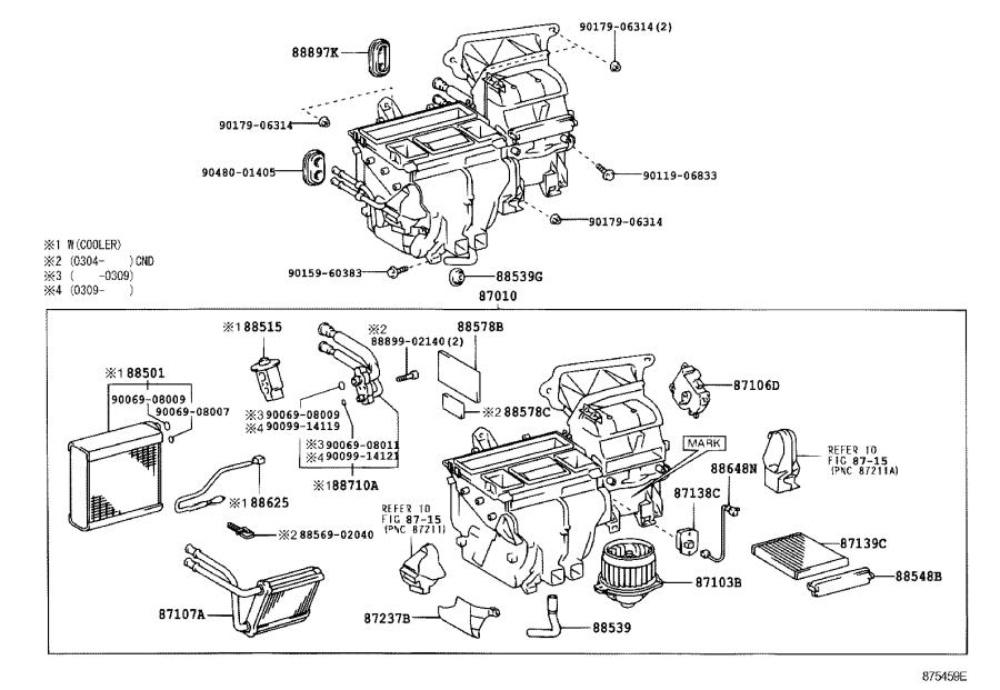 2007 Toyota Corolla Guide, air heater. Cooler