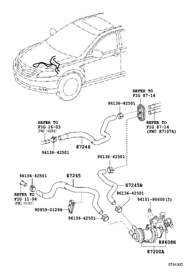 2009 Toyota Camry Engine Auxiliary Water Pump