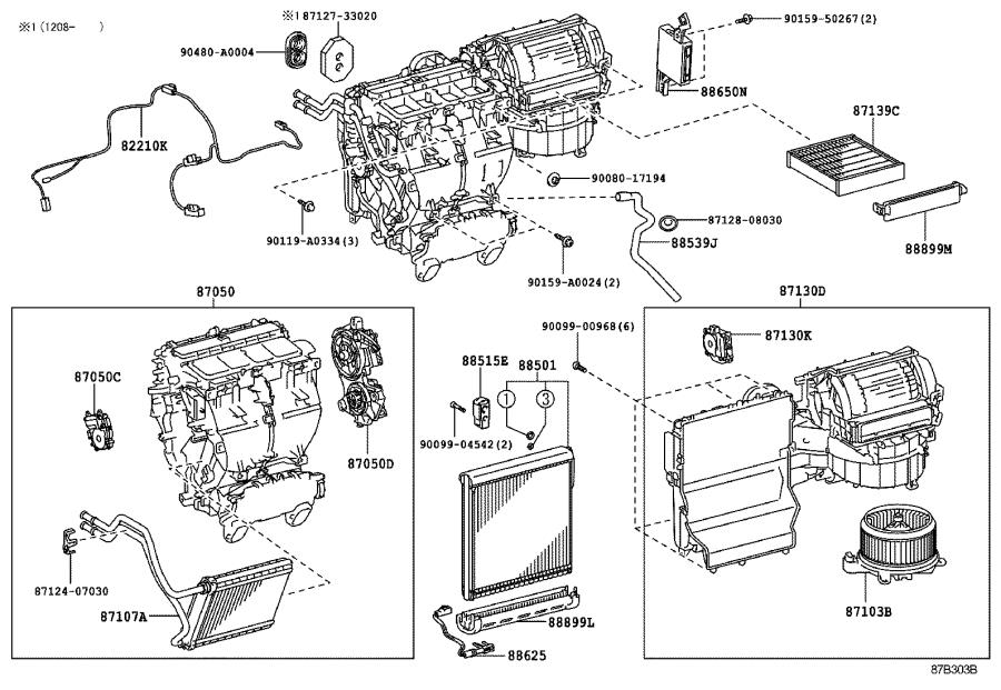 2012 Toyota Sienna Packing. Cooling unit, no. 2; cooling