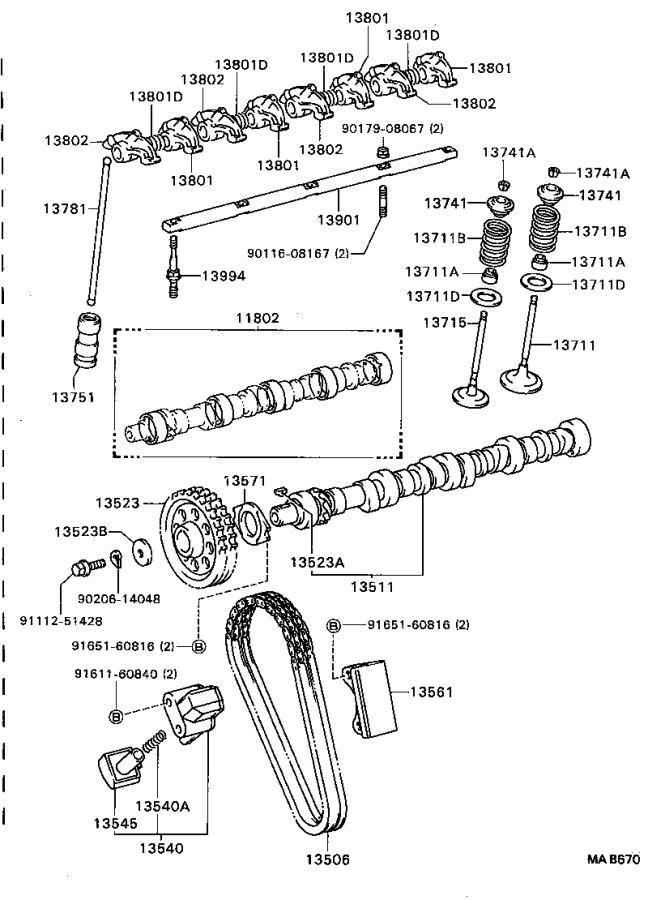Toyota Van Engine Timing Chain Tensioner. Tensioner, Chain