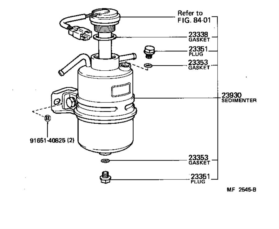 Toyota Land Cruiser Filter assembly, fuel. System