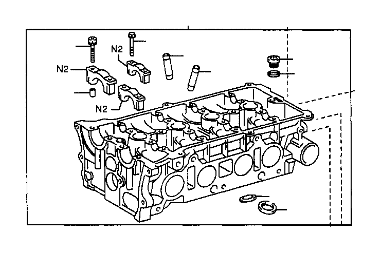 2007 Toyota Solara Engine Timing Cover. Cover, Timing
