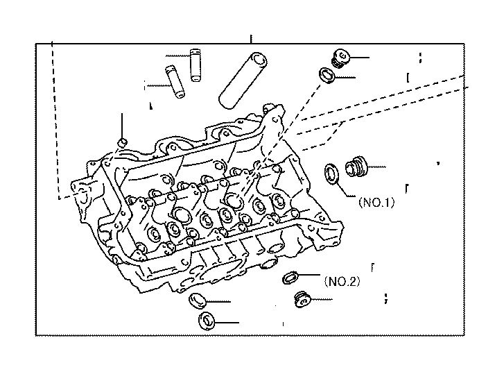 Toyota 4Runner Plug, with head straight screw, no. 2