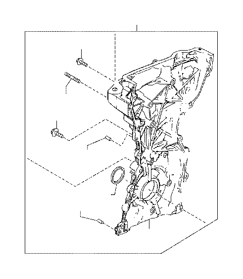 2018 Toyota Yaris iA Engine Timing Cover. Cover, Timing