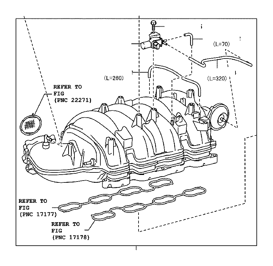 2008 Toyota Sequoia Valve assembly, vacuum switching