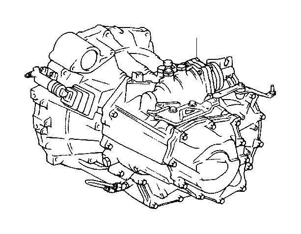 2009 Toyota Corolla Transaxle assembly, manual