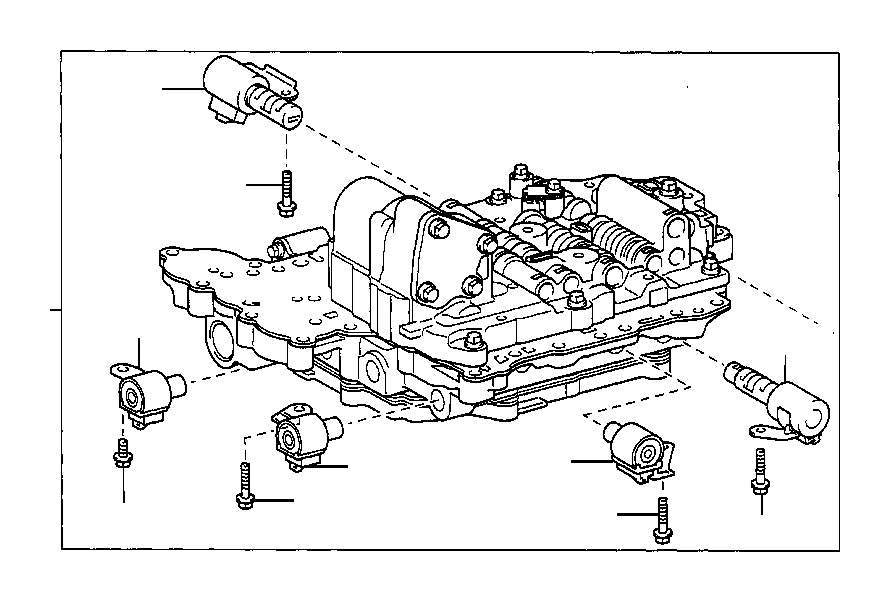 2003 Toyota Matrix Solenoid assembly, line pressure