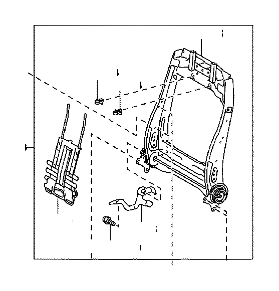 2012 Toyota Tundra Spring assembly, front seat back, right
