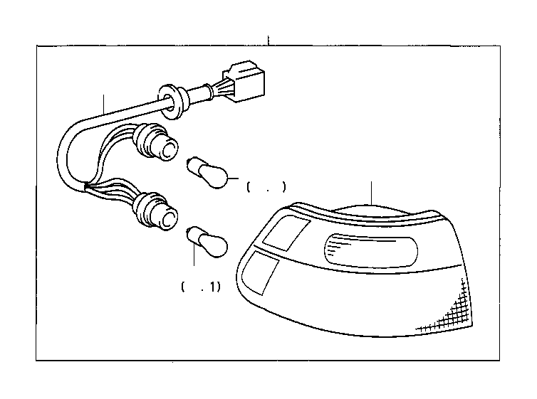 2001 Toyota Sienna Tail Light (Left, Rear). Lens and Body