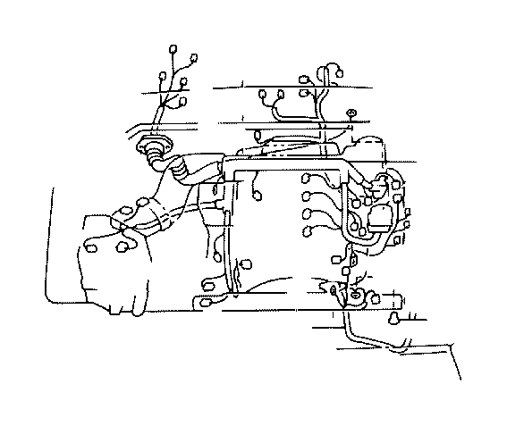 Toyota 4Runner Wire, differential. Clamp, engine