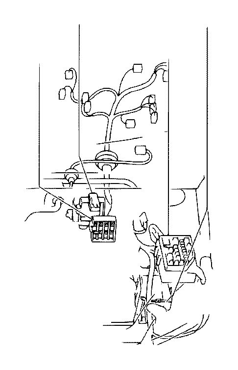 2002 Toyota Sequoia Connector, wiring harness. Ide