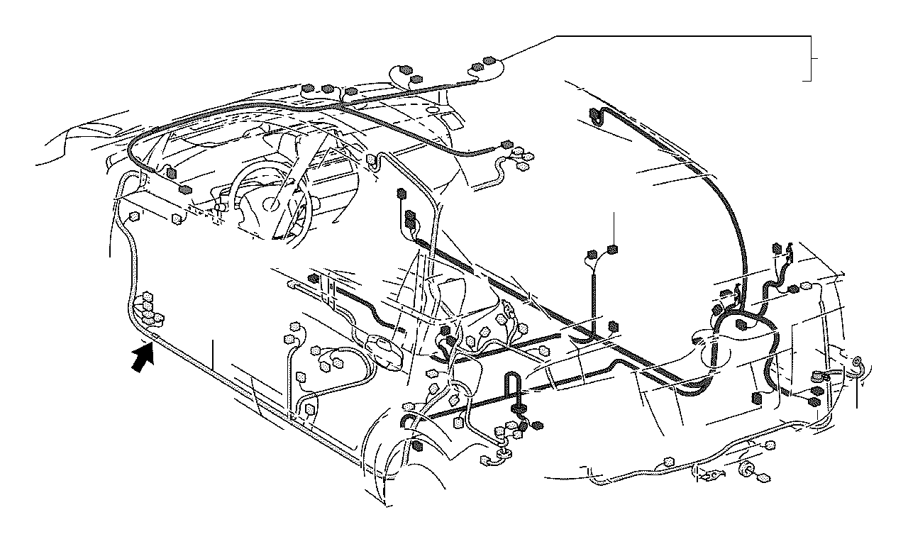 2007 Toyota Prius Wire, floor, no. 2. Wiring, electrical