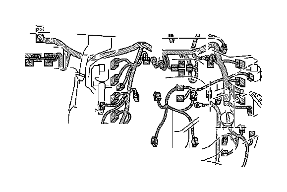 Toyota Tundra Wire, sensor. Engine, clamp, bracket