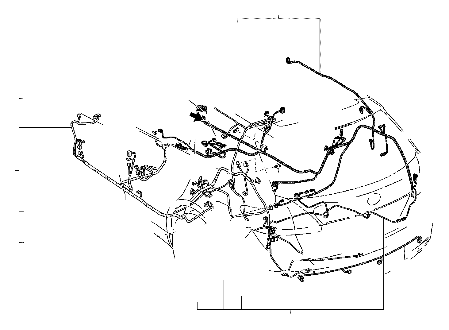 2013 Toyota Venza Wire, floor, no. 3. Electrical