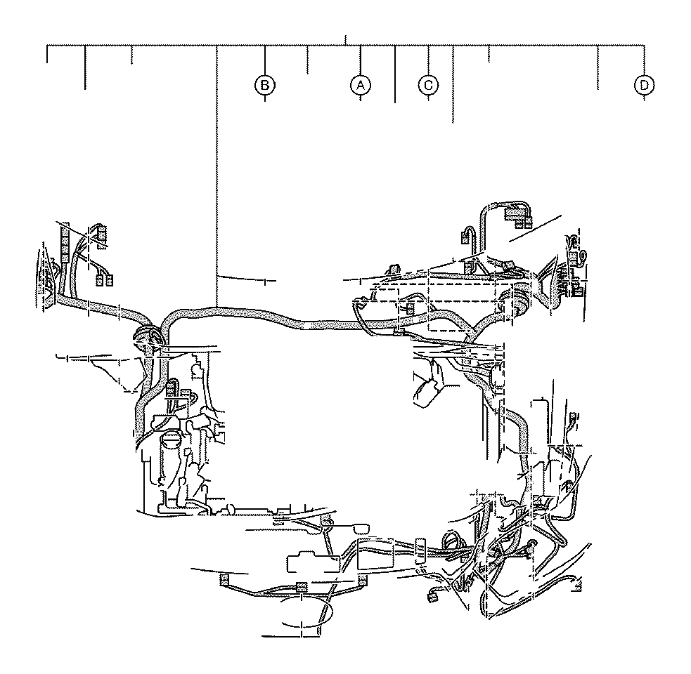 2010 Toyota Highlander Wire, engine room, no. 2