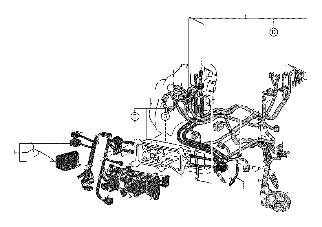 2012 Toyota RAV4 Wire, motor compartment, no. 4