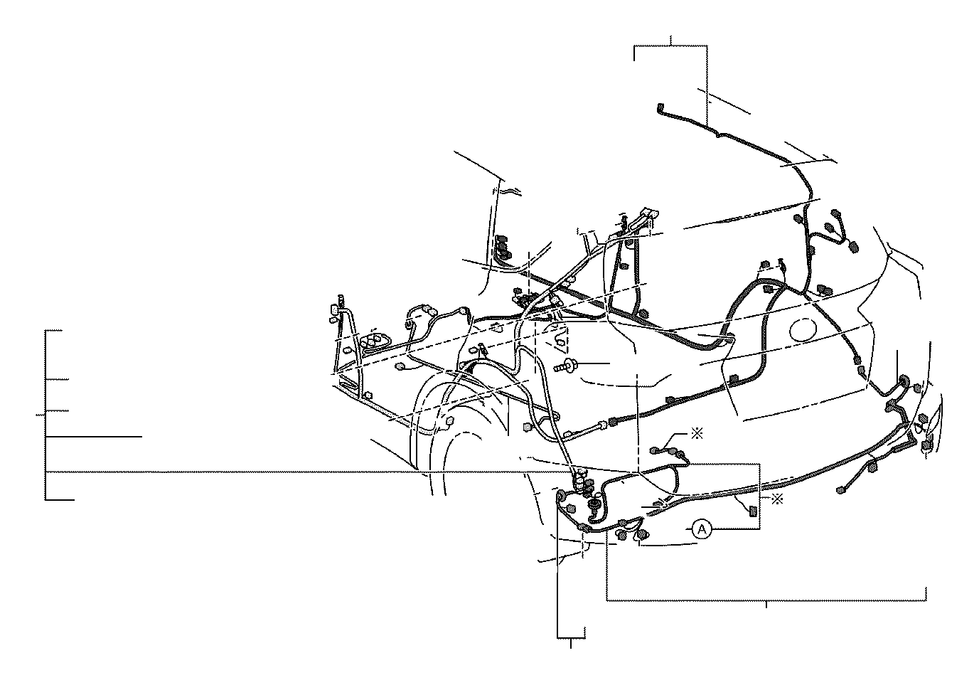 2013 Toyota RAV4 Wire, frame. Wiring, electrical, clamp