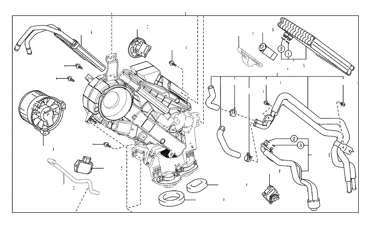 2013 Toyota Highlander A/c expansion valve (rear). Valve