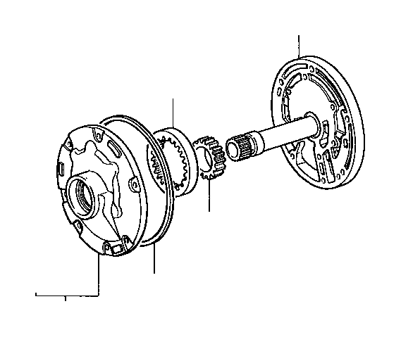 2001 Toyota Tacoma Gear, front oil pump drive. Atm
