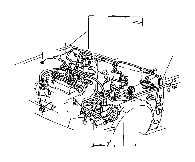 Toyota Camry Wire, instrument panel. Wiring, clamp