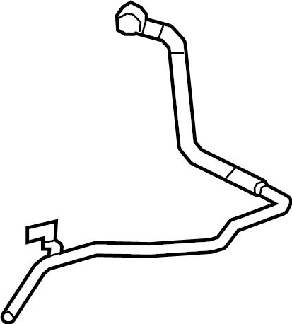 Subaru Legacy Hvac heater hose (outer). Hose atf