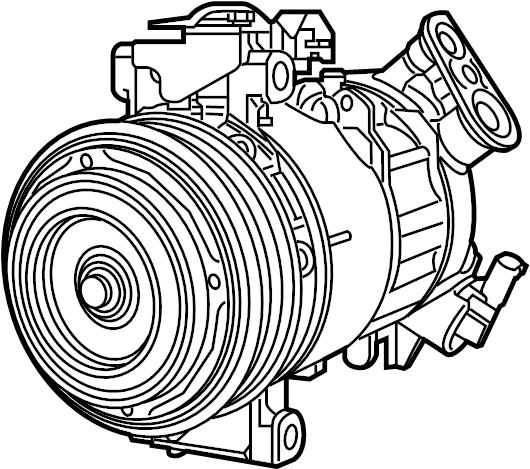 Subaru Legacy A/c compressor. An a/c compressor that may