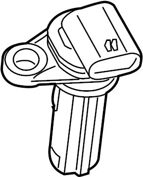 Subaru Legacy Engine Crankshaft Position Sensor. Used