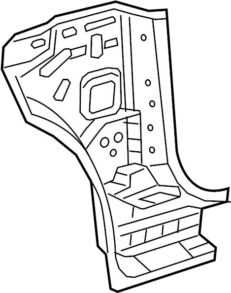 Subaru Legacy Body A-Pillar Reinforcement (Left). Panel