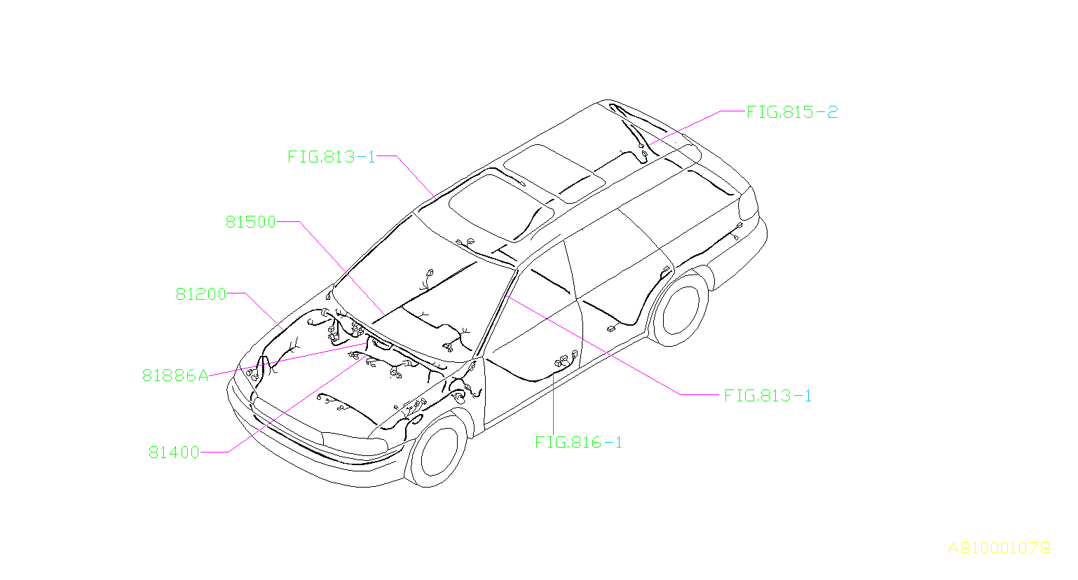 Subaru Legacy Cord Instrument Panel Meter. EARTH Cord