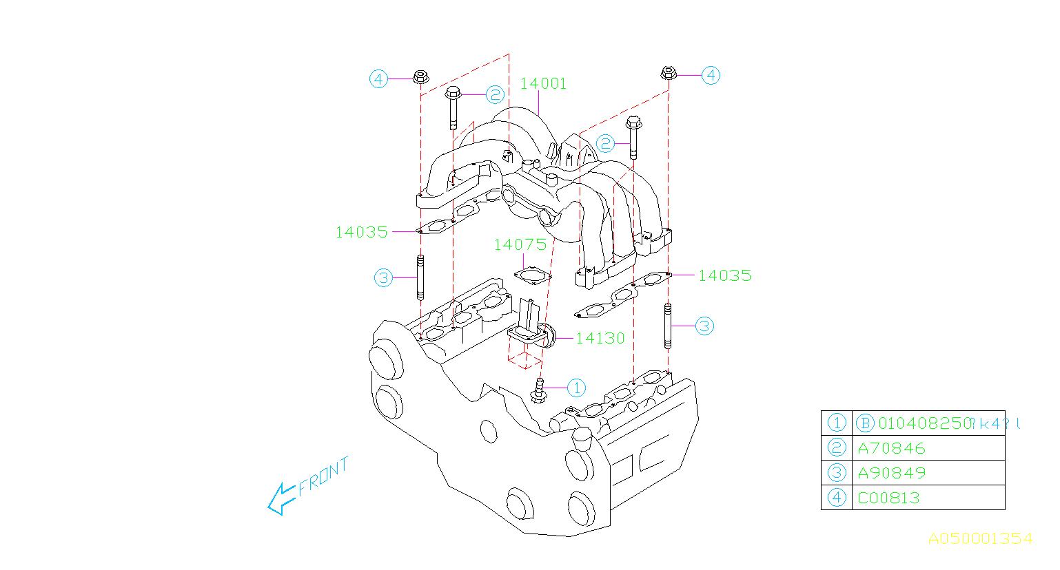 Subaru Legacy Gasket-intake manifold. System, engine