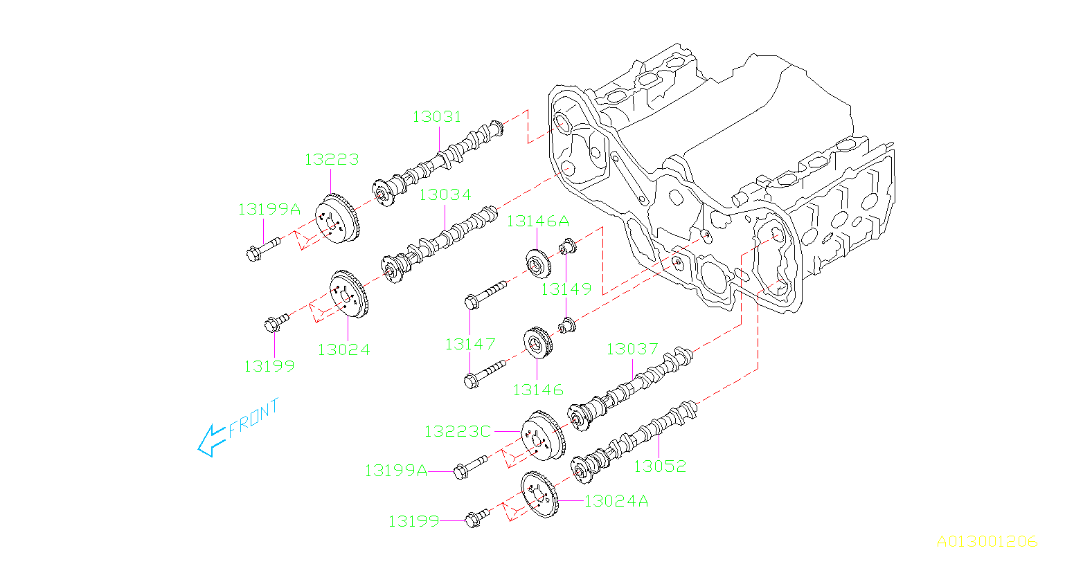Subaru Legacy Engine Crankshaft Pulley. TIMING, BELT